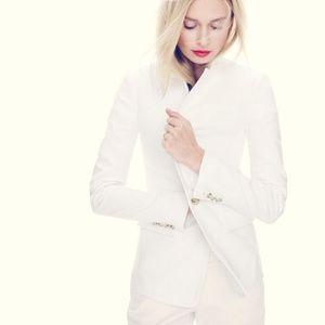 J. CREW Regent Blazer White Linen {A3}